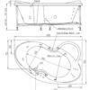 Акриловая ванна BellSan Индиго 170